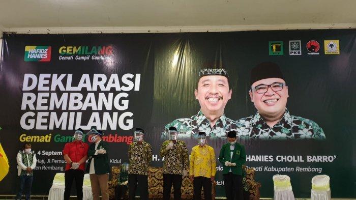 Bakal Paslon Hafidz-Hanies Deklarasi Virtual Pencalonan Diri di Pilkada Rembang 2020