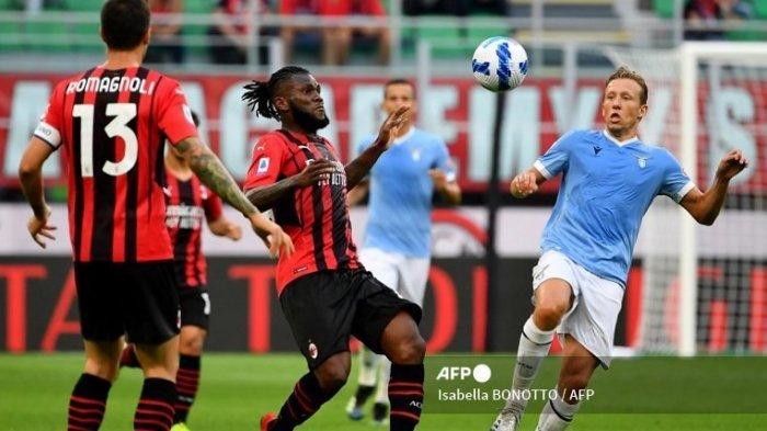 Hasil Babak I AC Milan Vs Lazio, Rafael Leao Bikin Gol Kessie Gagal Penalti