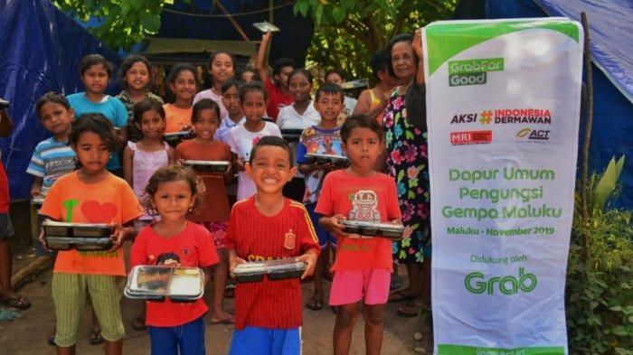 Kolaborasi Grab Indonesia dan ACT Ringankan Beban Ribuan Penyintas Gempa Maluku