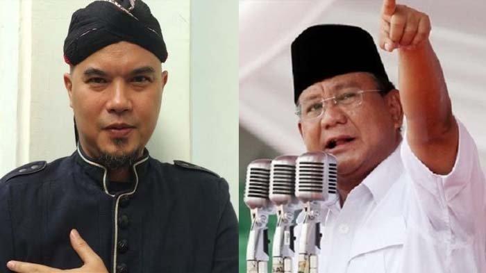 Reaksi Ahmad Dhani Setelah Dapat Bingkisan Sayur, Susu dan Telur dari Menteri Prabowo Subianto