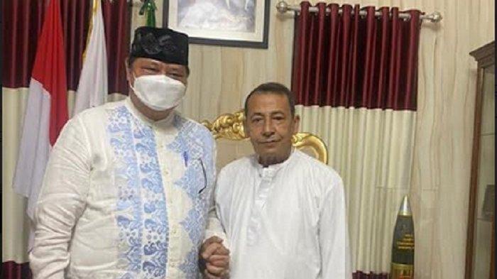 Airlangga Hartarto Sowan ke Kediaman Habib Luthfi
