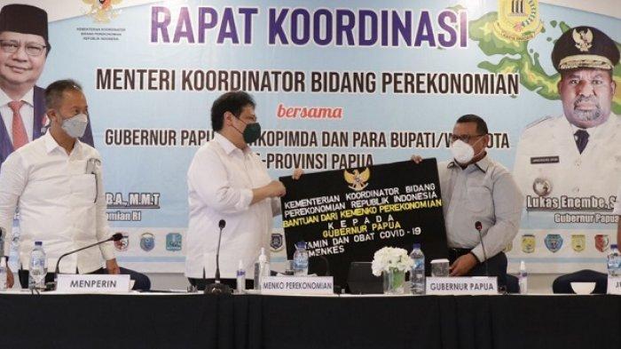 Airlangga Hartarto dan Gubernur Papua