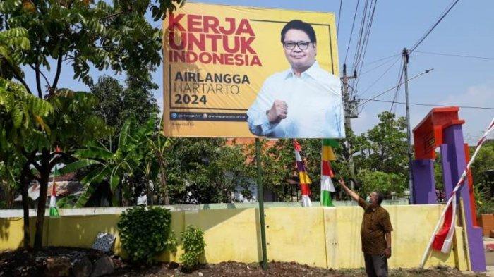 Banyak Baliho Airlangga Hartarto, DPD Golkar Jateng: Kita Sosialisasikan Bakal Capres Ke Masyarakat
