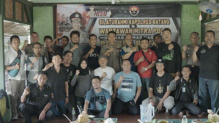 Silaturahmi dengan Pers, Kapolres Batang AKBP Abdul Waras Ajak Wartawan Bersinergi jaga Kamtibmas