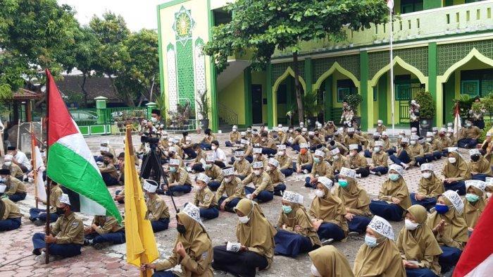 SMP Birrul Sragen Kumpulkan Donasi untuk Palestina, Dalam Satu JamTerkumpul Rp 15 Juta
