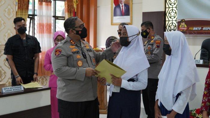 Polres Wonogiri Launching Program Aku Sedulurmu Bagi Yatim Piatu Korban Covid-19