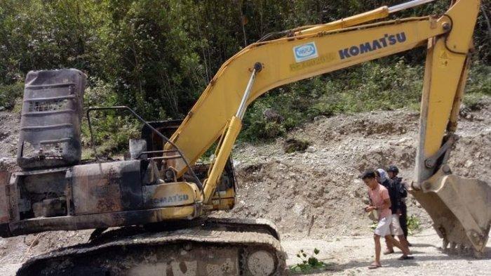 KKB Bakar Alat Berat Proyek Jalan Trans Papua, Pembangunan Dihentikan Sementara