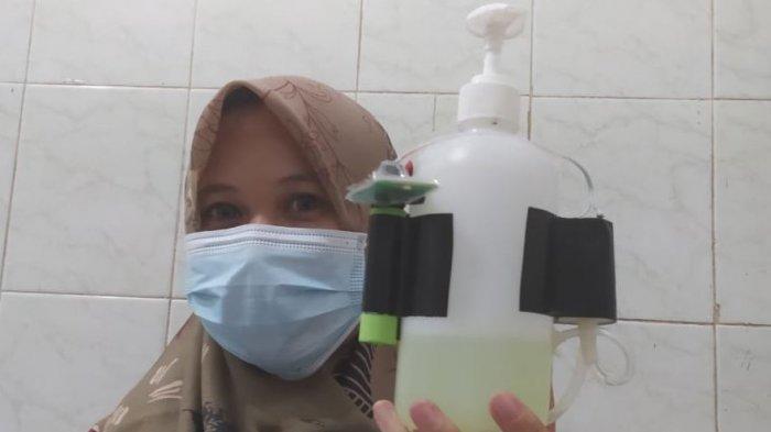 Kreatif, Alat Cuci Tangan Buatan RSI Banjarnegara Keluarkan Sabun Tanpa Sentuhan