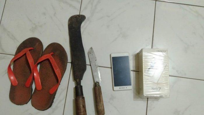 Pencuri Ceroboh, Ardi Ditangkap Polisi Gara-gara Pisau, Golok, dan Sandal Tertinggal di Rumah Korban