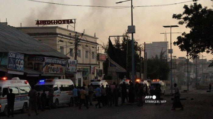 Sebuah Hotel di Somalia Diserang Teroris, Saksi Lihat Ledakan Besar Setelah Mobil Hantam Pintu Masuk