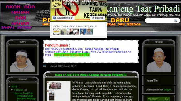 ANEH, Dimas Kanjeng Sudah Ditahan, Tapi Websitenya Tetap Aktif dan Pasien Masih Banjiri Pedepokan