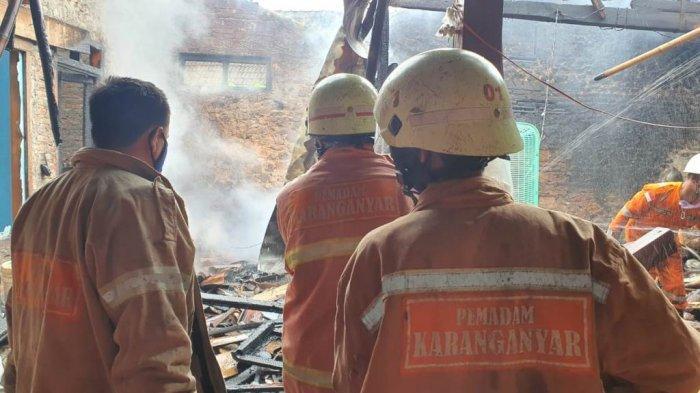 Ditinggal Bantu Acara Arisan Tetangga, Rumah Warga Karanganyar Terbakar