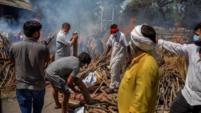 Kebutuhan Kayu Kremasi Jenazah Covid-19 di India Meningkat, Pohon di Taman Kota Ditebang