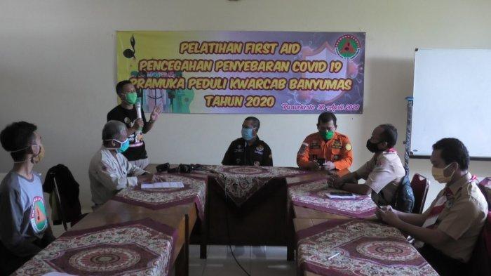 Belasan Anggota Pramuka Peduli Kwarcab Banyumas Ikuti Pelatihan Pencegahan Virus Corona