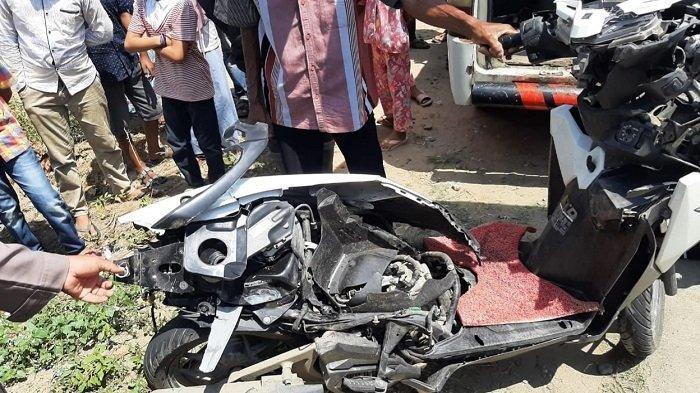 Innalillahi Wa Innailaihi Rojiun, Ibrahim Sekdes Tewas Kecelakaan Motor Vario Vs Angkot: Terseret