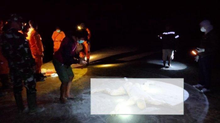 Anggota TNI AL Praka N saat ditemukan dengan kondisi mengenaskan di pantai setelah dikabarkan hilang tanggelam di Perairan Arafuru.