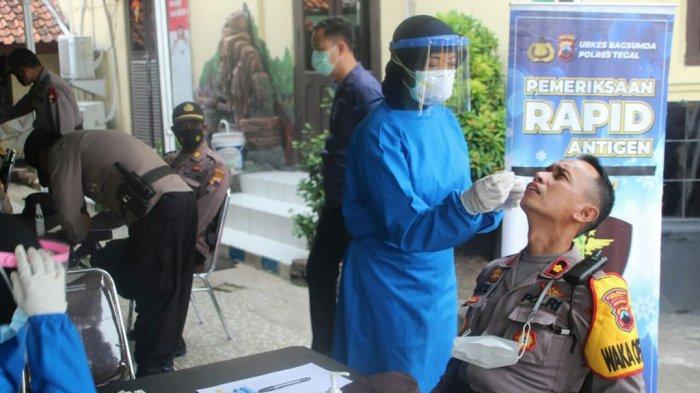 Hasil Rapid Test Antigen 330 Personil Polres Tegal, Bikin Dag Dig Dug