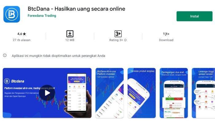 Aplikasi Penghasil Uang BTCDana, Investasi Hasilkan Cuan
