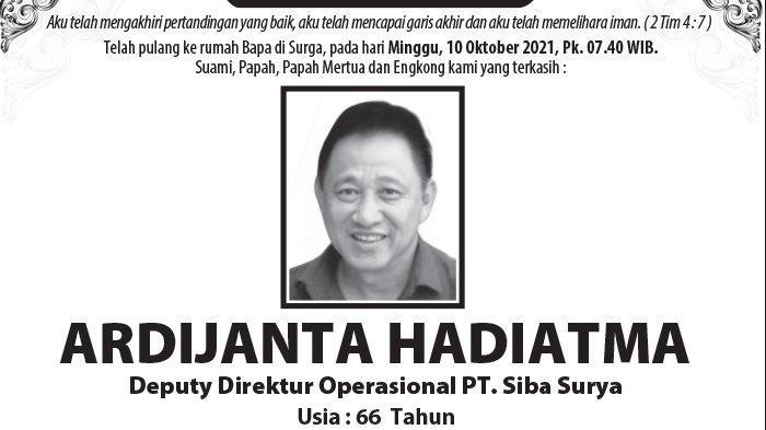 Berita Duka, Ardijanta Hadiatma Meninggal Dunia di Semarang