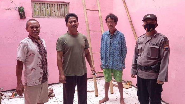 Atap rumah Sugeng warga Desa Prasutan Kebumen roboh usai diguyur hujan, Kamis (17/6/2021).