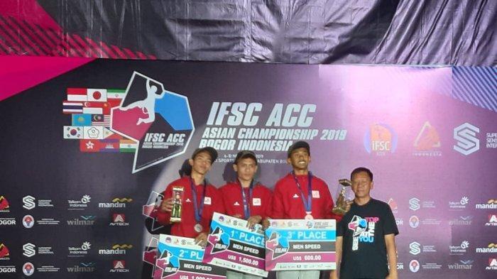 Atlet Panjat Tebing Asal Batang Kiromal Katibin Berhasil Sumbang 2 Medali di Asian Championship 2019