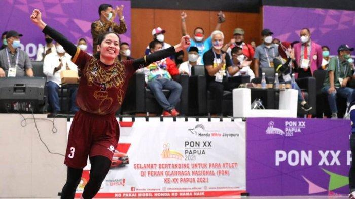 Disemangati Ganjar Pranowo, Tim Sepak Takraw Putri Jateng Raih Medali Emas PON Papua 2021