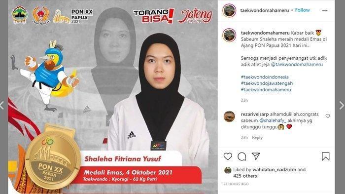 Deretan Prestasi Shaleha Fitriana Yusuf, Atlet Taekwondo Asal Sukoharjo Peraih Medali PON XX Papua