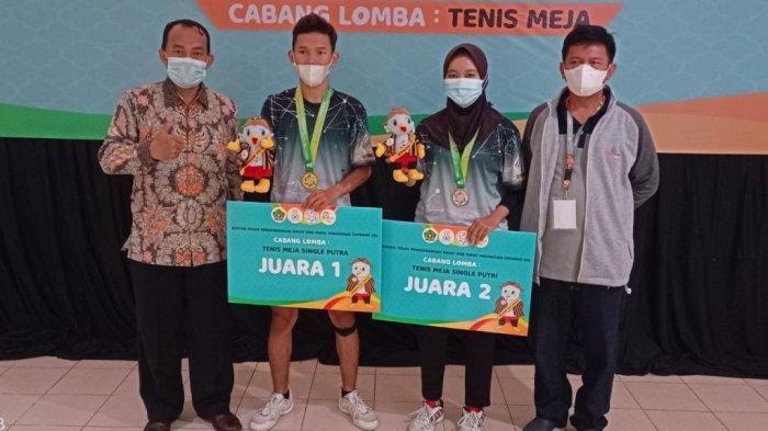 Atlet Tenis Meja UIN Walisongo Sumbang Medali Emas di Event IPPBMM 2021