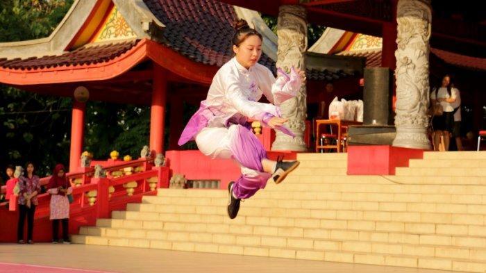 Sam Poo Kong Kedatangan Atlet Wushu dari Nanjing Tiongkok