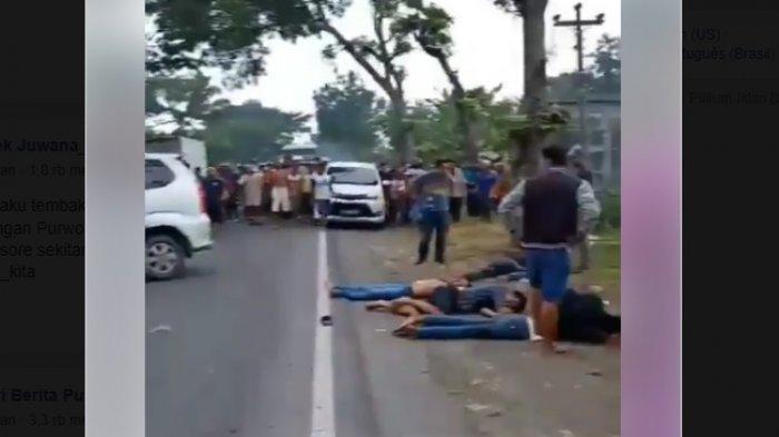 Heboh Viral Video Detik-detik Baku Tembak Penangkapan Kawanan Perampok di Jalan Yogya Purworejo