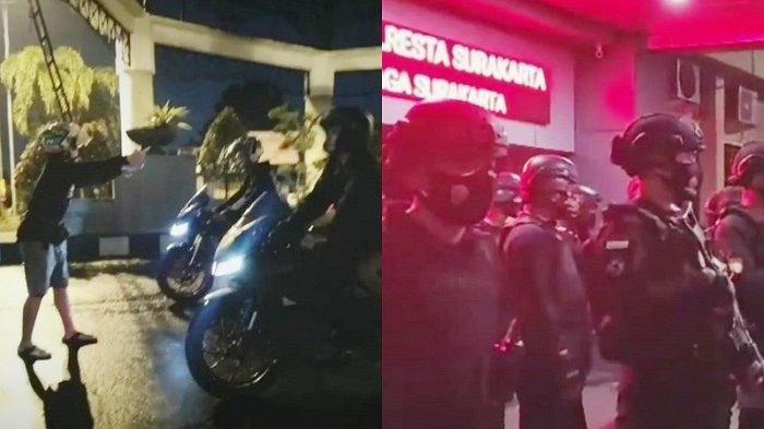Gerombolan ABG Tak Takut Corona Bikin Balapan Motor di Gapura Makuto Solo