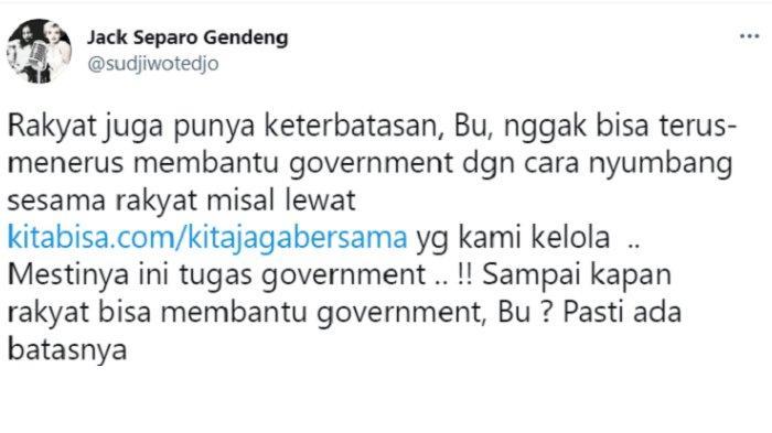 Balasan Menohok Sujiwo Tejo Saat Risma Ucap Pemerintah Tak Bisa Bantu Rakyat Terus Menerus