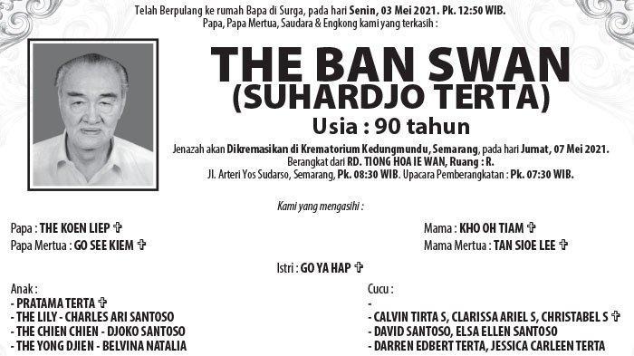 Kabar Duka, The Ban Swan (Suhardjo Terta) Meninggal di Semarang