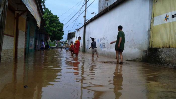 Ilustrasi. Banjir di Kabupaten Pati.