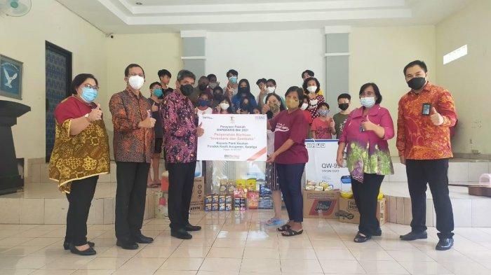 Bank BNI dan Bapekkris BNI Pusat serta Bapekkris Wilayah Semarang Adakan Berbagi Kasih