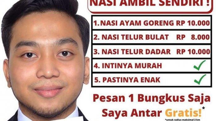 Strategi Marketing Rumah Makan Padang di Sleman, Buat Spanduk Seperti Caleg, Tarik Perhatian Netizen