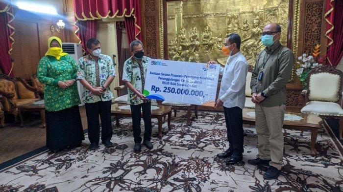 Pemkab Pati Terima Bantuan Sarpras Penanganan Covid-19 Senilai Rp 250 Juta dari BRI