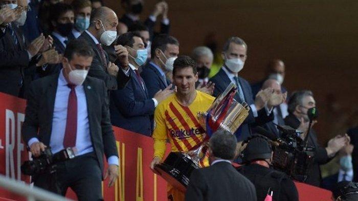 Juarai Copa Del Rey saat Barcelona Dalam Proses Regenerasi, Ini Unek-unek Messi Terhadap Pemain Muda