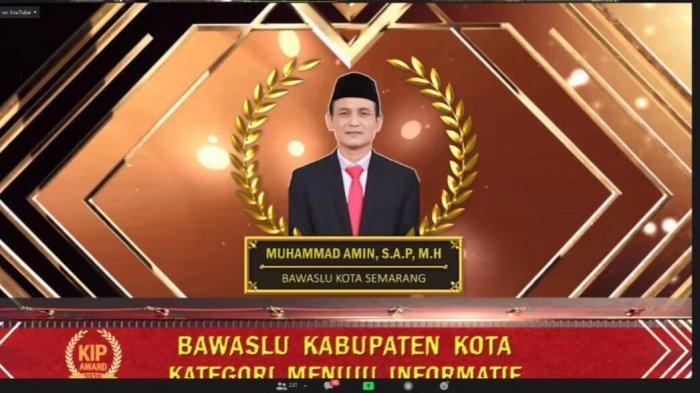 Bawaslu Kota Semarang Mendapat Penghargaan dalam KIP Jateng Award 2020