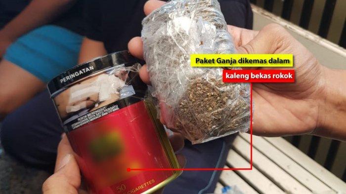 Bea Cukai Kudus Gagalkan Paket Ganja di Dalam Kaleng Rokok