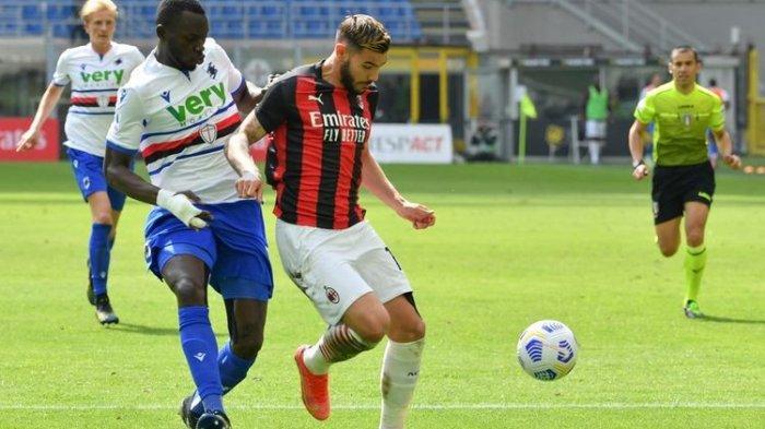 Hasil Liga Italia AC Milan Vs Sampdoria, Rossoneri Ditahan Imbang 10 Pemain