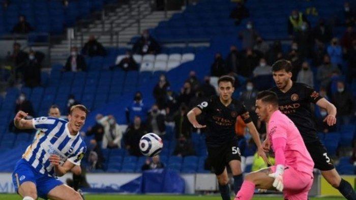 Hasil Liga Inggris Brighton Vs Manchester City, Sang Juara Dihajar Si Burung Camar