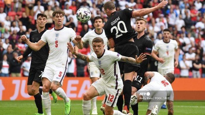 Hasil Euro 2020 Inggris Vs Jerman, Gol Raheem Sterling dan Harry Kane Hancurkan Mimpi Der Panzer