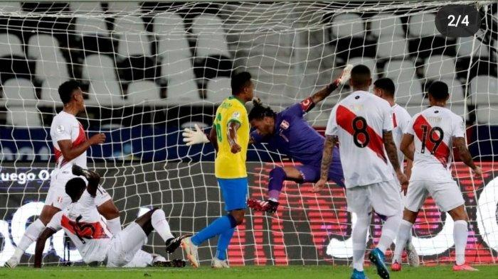 Hasil Lengkap Copa America 2021 Pagi Ini, Brasil Gunduli Peru 4-0, Kolombia Imbang Lawan Venezuela
