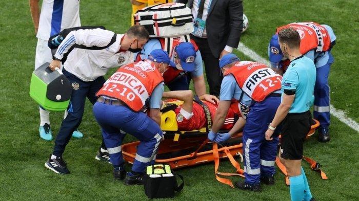 Setelah Eriksen, Laga Finlandia di Euro 2020 Kembali Makan Korban: 4 Pemain Terkapar, 1 Dibawa ke RS
