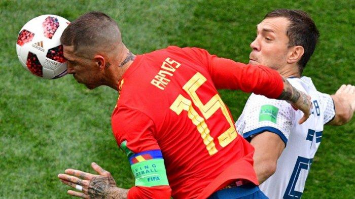 Babak Pertama Piala Dunia 2018 - Rusia Vs Spanyol : Diwarnai Gol Bunuh Diri dan Penalti