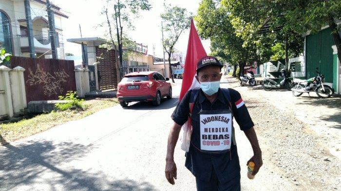 Berharap Corona Musnah Saat Hari Kemerdekaan, Suprayitno Jalan Kaki 880 Kilometer Menuju Bogor