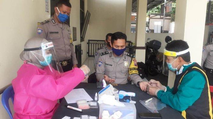 23 Personel Bhabinkamtibmas Polres Salatiga Jalani Rapid Test