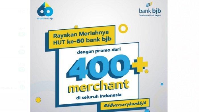 Rayakan HUT ke-60, bank bjb Gelar Promo di Ratusan Merchant