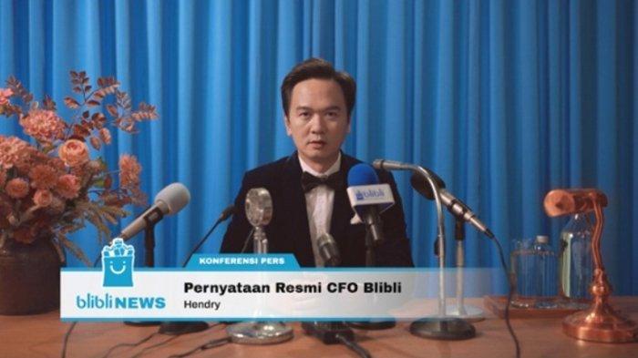 Chief Financial Officer (CFO) Blibli, Hendry memberi klarifikasi